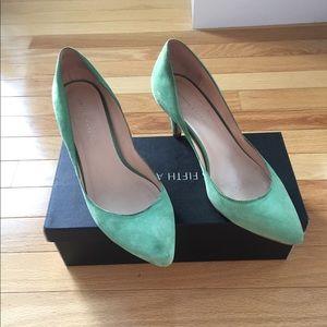 Mint Green Loeffler Randall Heels